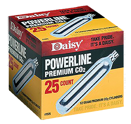 Daisy 7025 PowerLine CO2 Cylinder 12 gram 25 Pack