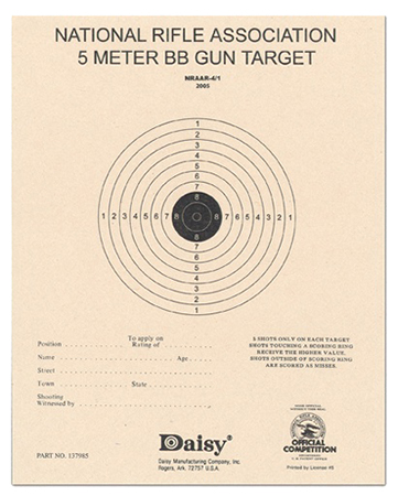 Daisy 408 Air Rifle Paper Target 50 Pack