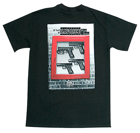 Glock AA11013 In Case of Emergency T-Shirt Medium Black Cotton Short Sleeve