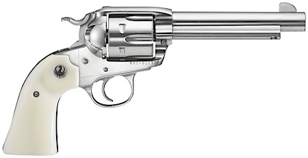 Ruger 5129 Vaquero Bisley 45 Colt 5.5″ 6rd Syn Ivory Grip High-Gloss Stainless