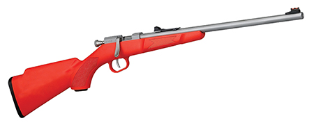 Henry H005S Mini Bolt Action Bolt 22 Long Rifle 16.25″ 1 Orange Synthetic Stk SS