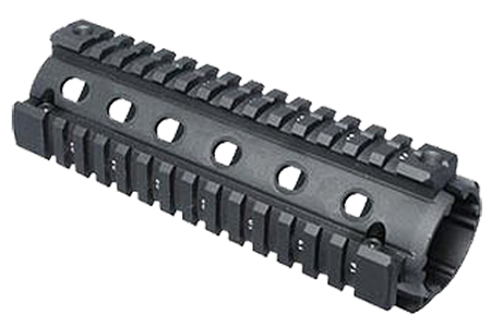 Global Military Gear GMQR1 AR-15 Aluminum Quad Rail Forend Black