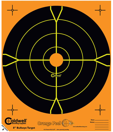 Caldwell 555-050 Orange Peel Targets Bullseye 5.5