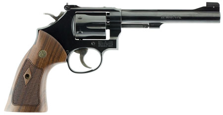 S&W  M48 150718 Classic 22Mag 6″ Blued 6rd Wooden Target Grip