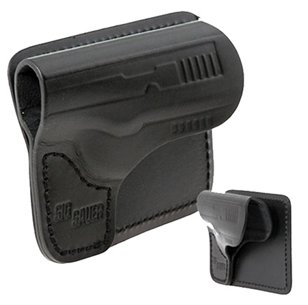 Sig Sauer HOLPKT238BLK P238 Pocket Holster Leather Black