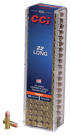 CCI 0029 Long HV 22 Long Copper-Plated Round Nose 29 GR 100Box/50Case