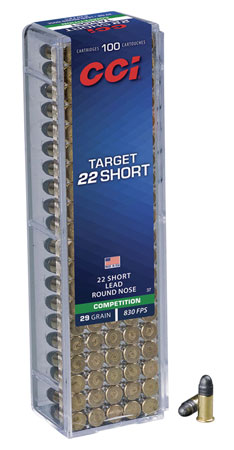 CCI 0037 Select 22 Short Lead Round Nose 29 GR 100Box/50Case