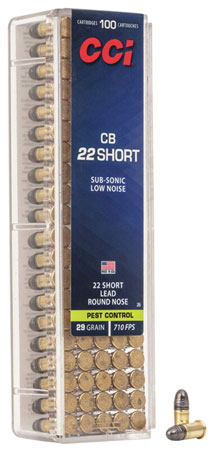 CCI 0026 Low Noise/Training/Specialty CB 22 Short LRN 29 GR 100Box/50Case