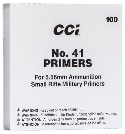 CCI 0001 Primer 223 Remington/5.56 NATO 10 Boxes of 100 Primer