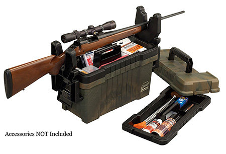 Plano 181601 Shooters Two Trays Shooter''s Case Portable Plastic Camo