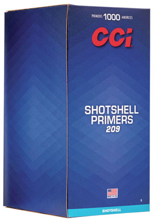 CCI 0008 Primer 209 Shotshell  10 Boxes of 100 Primer