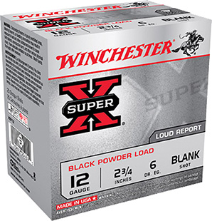 Winchester Ammo XBP12 Super-X Black Powder Blank 12 Gauge 3