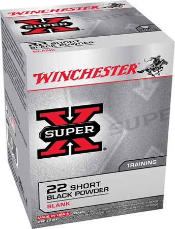 Winchester Ammo X22SB Super-X Black Powder Blank 22 Short  50 Bx/100 Cs
