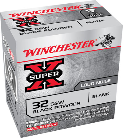Winchester Ammo 32BL2P Super-X Black Powder Blank 32 Smith & Wesson  50 Bx/100 Cs