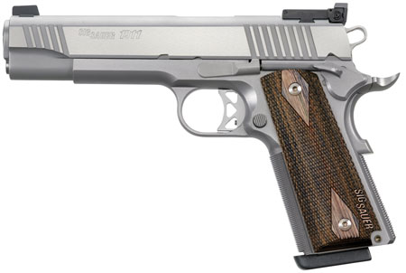 Sig 1911T9SME 1911 Traditional Match Elite 9mm 5″ 10+1 AS Blackwood Grip SS