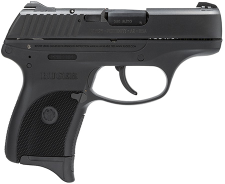 Ruger 3219 LC380 Standard 380 ACP 3.12″ 7+1 Black Checkered Grip Blued
