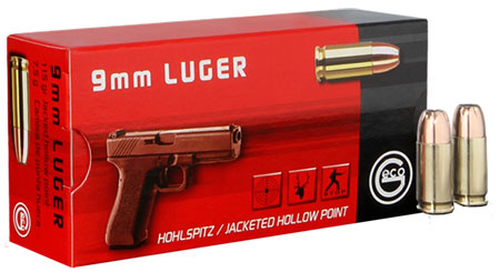 GECO 220240050 9mm Luger 115 GR Full Metal Jacket 50 Bx/ 20 Cs