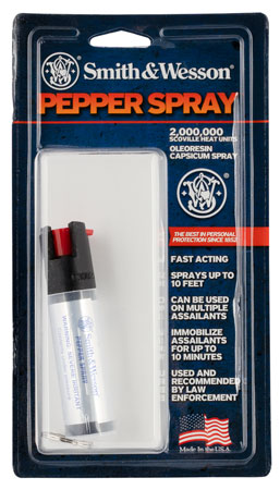 S&W Pepper Spray 1251 Pepper Spray Key Ring .75 oz    Clear