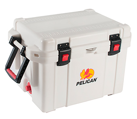 Pelican ProGear 3235QMCWHT Cooler 35Qt Elite Sloped Drain Fish Scale White