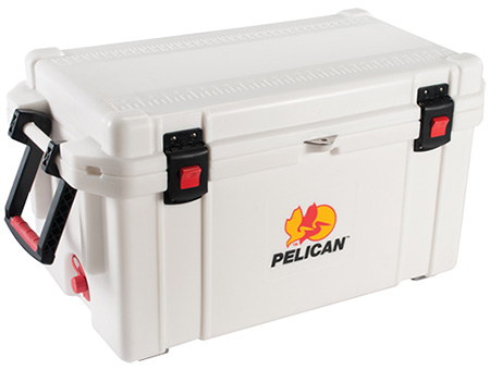 Pelican ProGear 3265QMCWHT Cooler 65Qt Elite Sloped Drain Fish Scale White