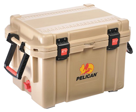 Pelican ProGear 45QTTAN Progear Cooler 45Qt Elite Sloped Drain Fish Scale Tan