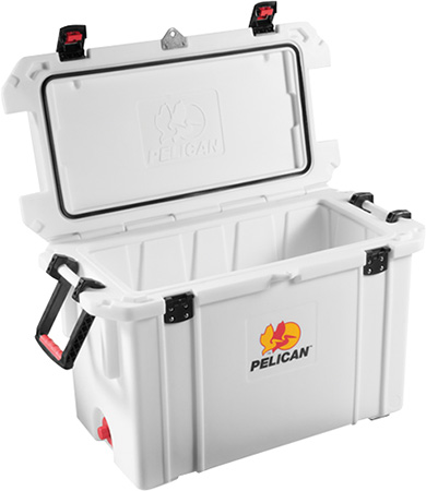 Pelican ProGear 95QTWHT Cooler 95Qt Elite Sloped Drain Fish Scale White