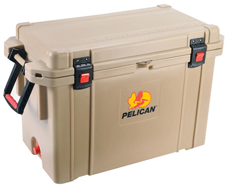Pelican ProGear 95QTTAN Cooler 95Qt Elite Sloped Drain Fish Scale Tan