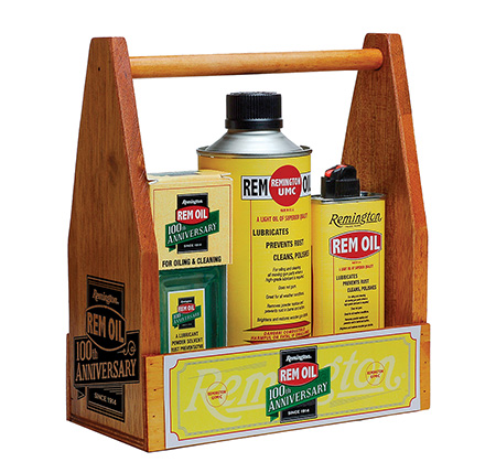 Remington Accessories 18005 100th Anniversary Rem Oil Wooden Carrier Combo