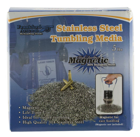 Frankford Arsenal 909191 Stainless Steel Pins Tumbling Media Universal 5 lbs