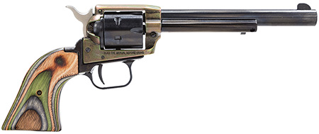 Heritage RR22CH6 Rough Rider Small Bore 22LR 6.5″ 6rd Camo Lam Grip CH Blued