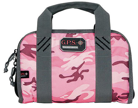 G*Outdoors 1308PCPK Double Pistol Case w/Quilted Tricot Lining Nylon Pink