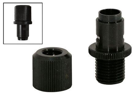Walther Arms 512105 Threaded Barrel Adapter P22 1/2x28 Threads Black