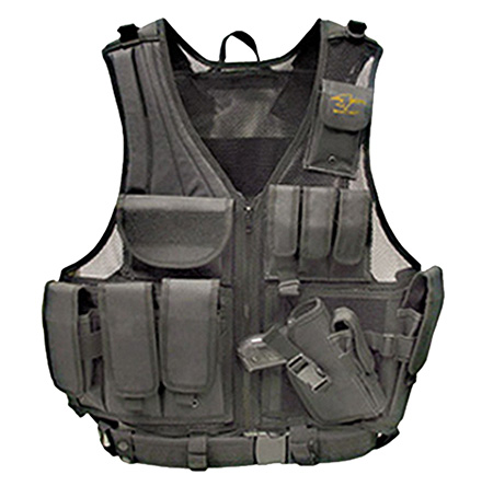 Galati Gear GLV547BH Deluxe Tactical Vest Tactical Nylon Husky Black