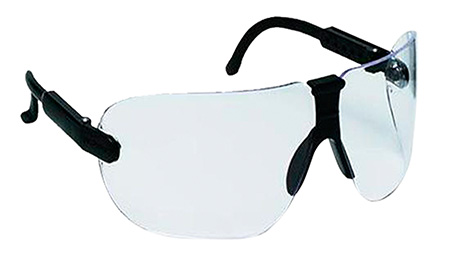 3M Peltor 97100 Professional Shooting Safety Glasses Black Frame Clear Lens
