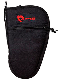 Drago Gear 12314BL Single Pistol Case 600D Polyester Black 10.5