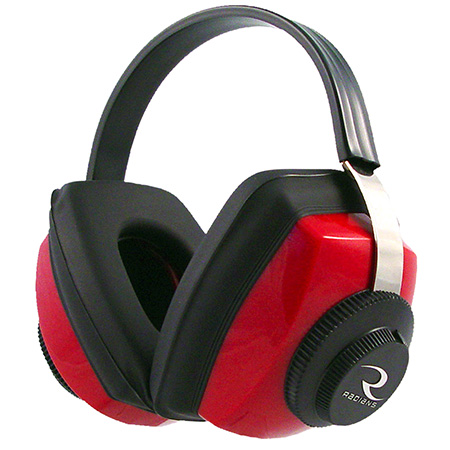 Radians CP0300CS Competitor Electronic Hearing Protection Muffs Red/Black