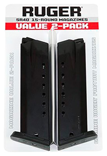 Ruger 90450 SR40/SR40C Replacement Magazine 2 Pack 40S&W