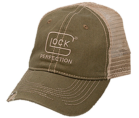 Glock AS00086 Perfection Distressed Hat Adj Velcro Cotton/Mesh Olive/Stone