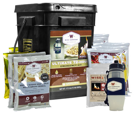 Wise Foods 05715 Emergency Supplies Ultimate 72-Hour Emergency Kit 72 Servings