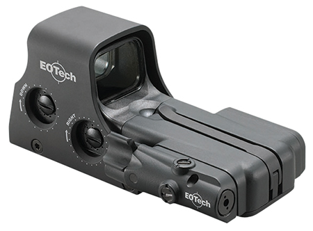 Eotech 512LBC Model 512 w/Laser Battery Cap 1x 30x23mm Obj Unlimited Eye Relief 1 MOA Black