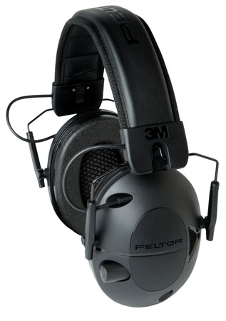 3M Peltor 92493  Tactical 100 Earmuffs  NRR 22 dB Battery Operated  Black