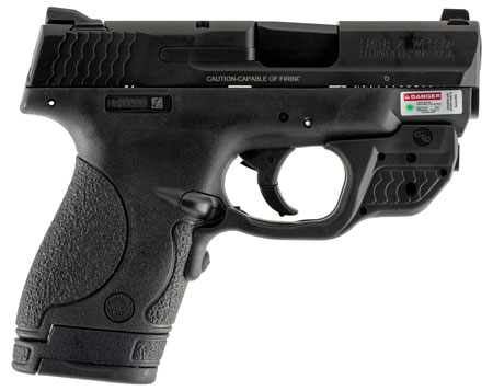 S&W 10141 M&P 9 Shield w/Crimson Trace Double 9mm 3.1″ 7+1/8+1 Black Poly Grips