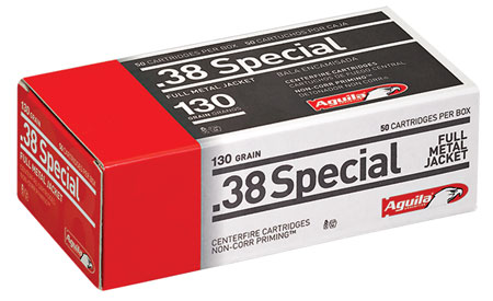 Aguila 1E382521 .38 Special 130 GR Full Metal Jacket