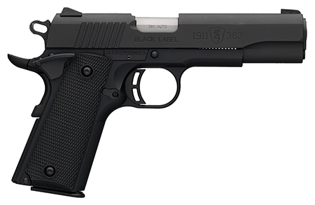 Browning 051904492 1911-380 Black Label SAO 380 Automatic Colt Pistol (ACP) 4.25″ 8+1 FS Black Polymer Grip Black
