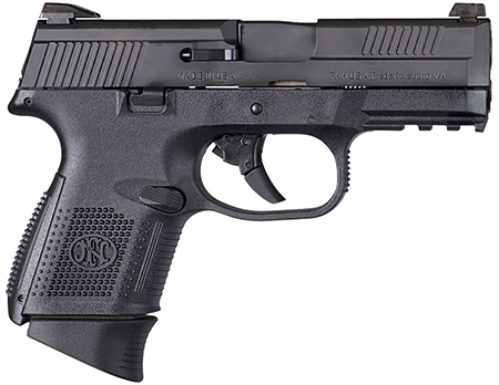 FN Herstal FNS Compact Pistol .40 SW 3.6in 14rd Black Night Sight 66722