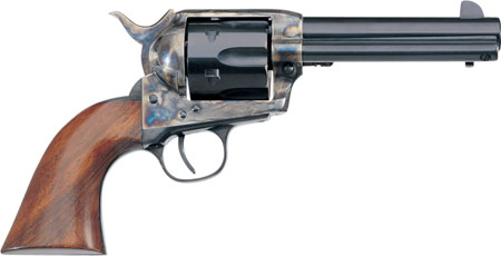 Taylors and Company 700E 1873 Cattleman Single 357 Magnum 4.75″ 6rd Walnut Blued