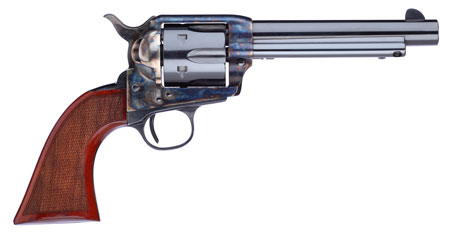 Taylors and Company 556209DE Short Stroke Gunfighter Army Grip Single 357 Magnum 7.5″ 6rd Walnut Army Sized Blued