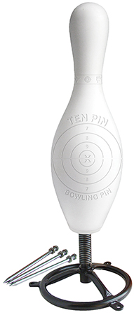 Do All Traps DBP02 Impact Seal Targets 3-D Ten Pin Self Healing Bowling Pin w/Action Base 1